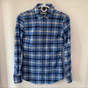 Barbour Women's Blue Plaid Flannel Shirt - US 4